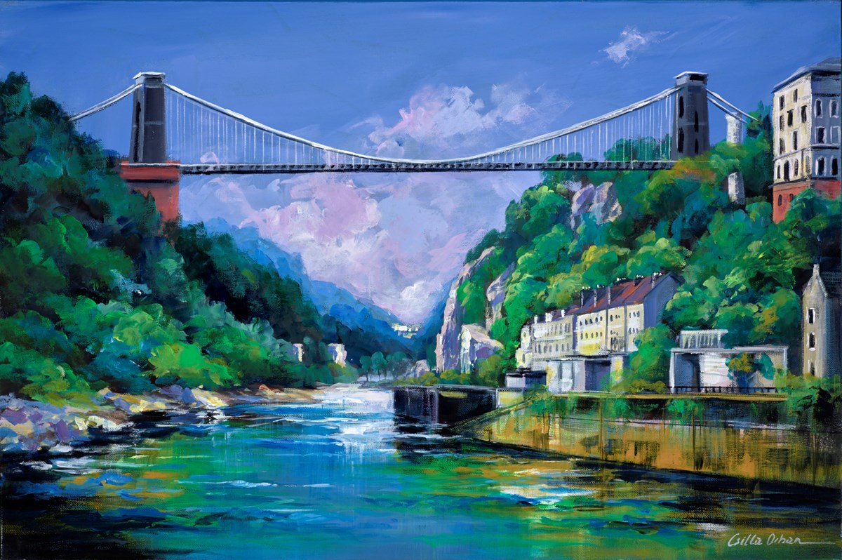The Clifton Suspension Bridge by csilla orban -  sized 30x20 inches. Available from Whitewall Galleries